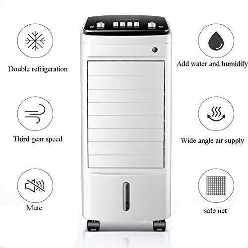 XJWZ Refroidisseur d'air évaporatif Portable avec climatiseur, déshumidificateur, purificateur d'air, Fonction de Ventilateur, 3 réglages du Vent et Oscillation, Parfait pour Le Salon et la Chambre
