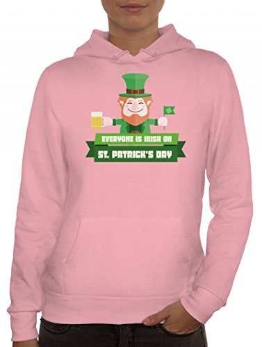 Saint Patrick's Day St. Patricks Day Damen Kapuzenpullover mit Everyone Is Irish...Motiv Rosa