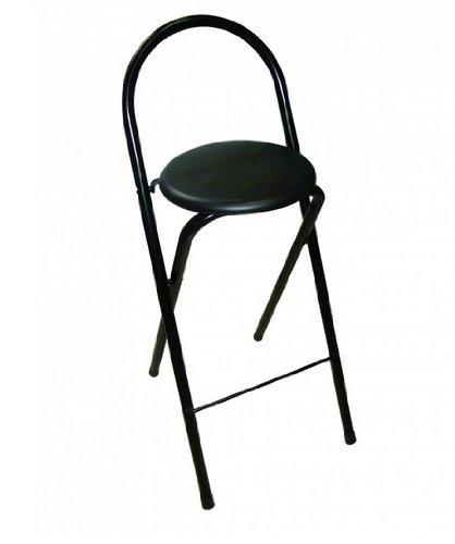 Sdpe - Taburete glory, medidas 30 x 30 x 70 cm, color negro