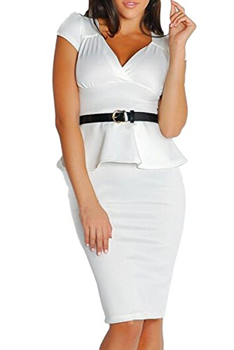 Dissa® femme Blanc SY21772 robe de cocktail Blanc