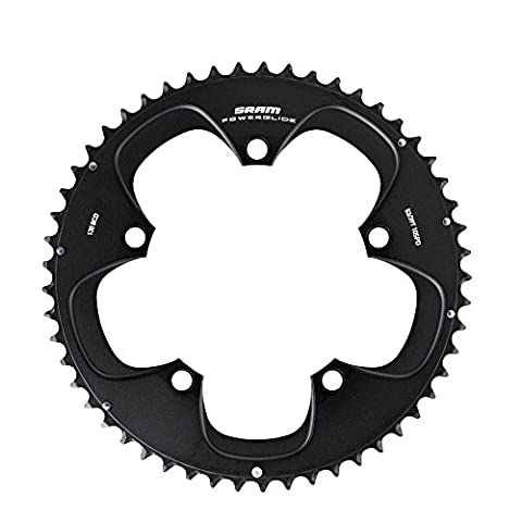 SRAM Chainring TT 42t 5 Bolt 130 mm BCD Aluminium 10 and 11 Speed (55-42, 54-42) 3 mm, Black