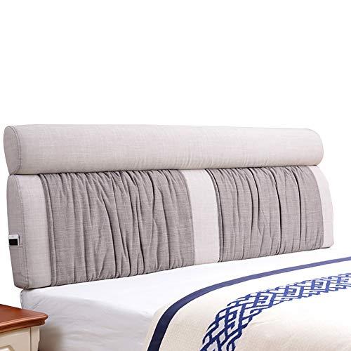 Guowei capezzale cuscino testata letto parete cuscino imbottiti cuneo schienale supporto larga per letto con/senza testiera (colore : b-gray, dimensioni : 185x60x12cm)