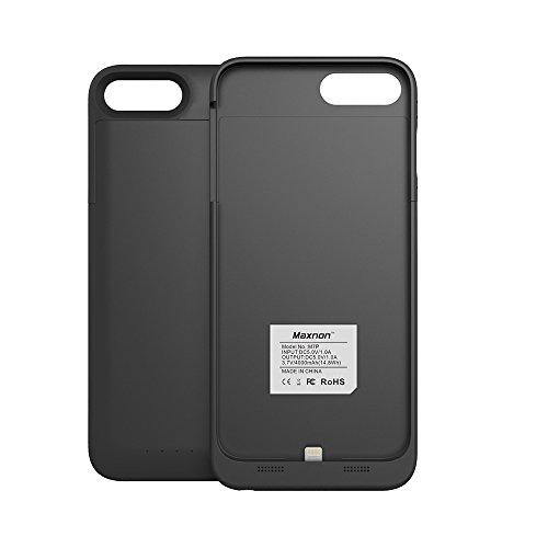 Custodia iPhone 7 Plus [Ricaricabile], BasicStock 4000mAh Alta capacità Esterno Battery Cover Power Caricabatterie Protettivo Case Cover(Nero)