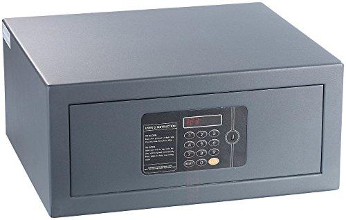 Xcase Wandtresor: Notebook-Stahlsafe mit digitalem Code-Schloss, LED-Display, 22 l (Hotelsafe) -