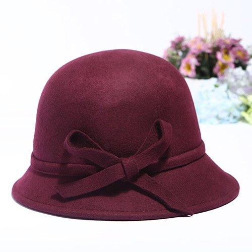 SUNWUKONG Wolle warme Mütze Fischer Hut/Lady in Herbst und Winter Hüte, 2