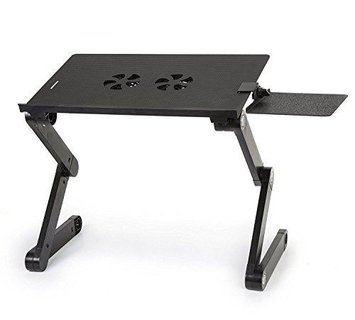Tiny Deal T8 Adjusting Laptop Foldable Desk Notebook Table Folding...