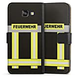 DeinDesign Samsung Galaxy A5 (2016) Tasche Leder Flip Case Hülle Feuerwehr Feuerwehrmann Firefighter