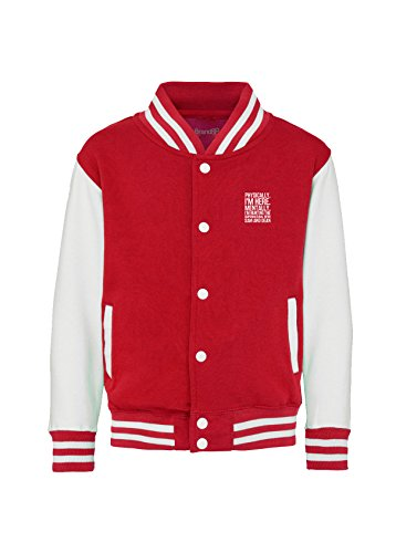 Hunting the Supernatural with Sam and Dean, Kinder-Uni-Jacke - Feuer Rot 9-11 Jahre (Supernatural Deans Jacke)