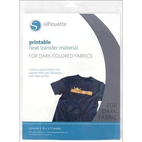 Papier de transfert à chaud imprimable Silhouette pour tissus