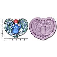Egypt; Scarab Beetle Small, Medium, Large & Bundle Silicone Rubber Craft Mould (Medium)