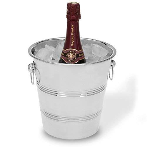 4smile Weinkühler Sektkühler Edelstahl hochglänzend – eleganter Flaschenkühler bewahrt lange und konstant die optimale Trinktemperatur von Getränken - genießen Sie besondere Momente stilvoll