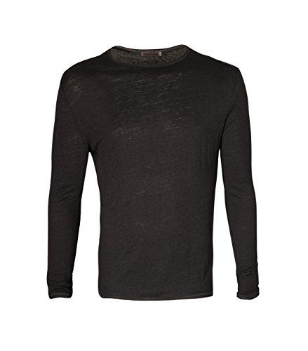GRETA & LUIS Herren Langarmshirt aus Leinen Leonard in Grau Dark Grey