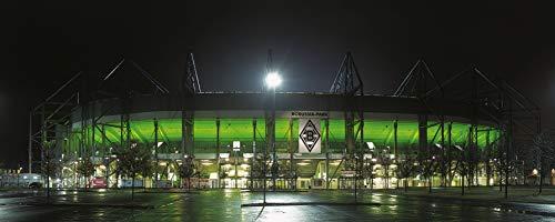 Blue-Letter Mönchengladbach Jumbo Stadion Panorama - hochwertiger FineArtPrint (240 cm x 100 cm) -