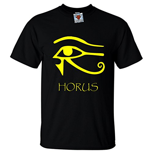 Bullshirt's Herren Horus T-Shirt - Herren, Schwarz Gelb -