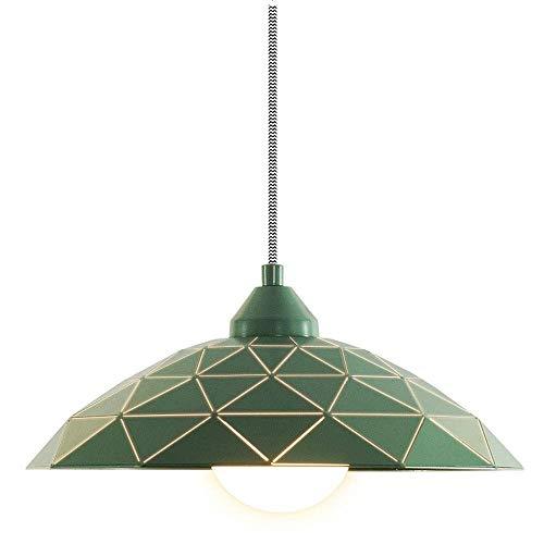 Dmxydd Moderne minimalistische kreative Persönlichkeit Restaurant Esstisch Lampe nordischen Stil Beleuchtung Bar einzigen Kopf LED-Kronleuchter (Color : Green)