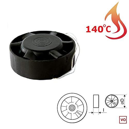 Ventilador Extractor Industrial en línea para conductos Circulares de Alta Temperatura 140°C...