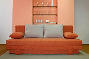 Möbel für Dich Bettsofa/Schlafsofa Lotus schick, modern, mit FARBAUSWAHL und mit FEDERKERN, Beige