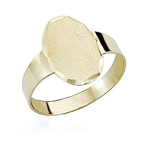 Baby-Siegel Gold 18k oval hollow [7510GR] Medium - Anpassbare - AUFNAHME IM PREIS INBEGRIFFEN (Baby-siegel)