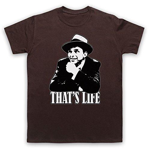 Inspiriert durch Frank Sinatra That's Life Unofficial Herren T-Shirt Braun