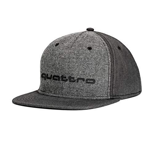 Audi Sport GmbH 3131700800 Basecap Snapback Cap Baseballcap Kappe, mit Quattro Schriftzug grau