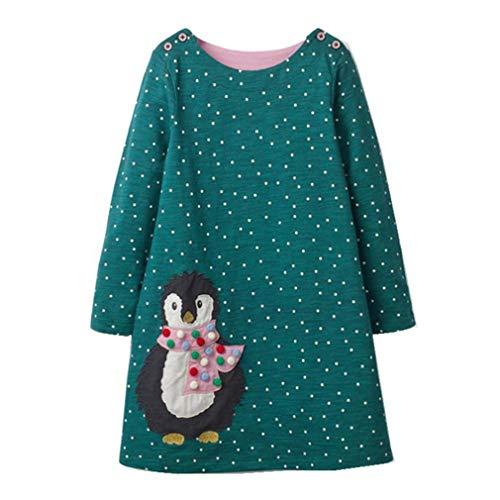 Cheyuan Mädchen Kleid Langarm Baby Mädchen Kleidung Party -