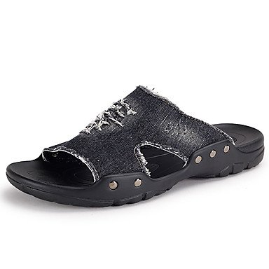 pantofole Infradito da uomo Pantofole & amp;Infradito Estate Pantofole lattice casuale Tallone piano sandali US9.5 / EU42 / UK8.5 / CN43