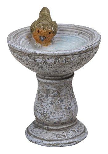 Miniature World Robin Birdbath ornamento-granito