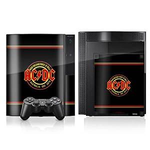DeinDesign Sony Playstation 4 Controller Folie Skin Sticker aus Vinyl-Folie Aufkleber ACDC High Voltage Merchandise