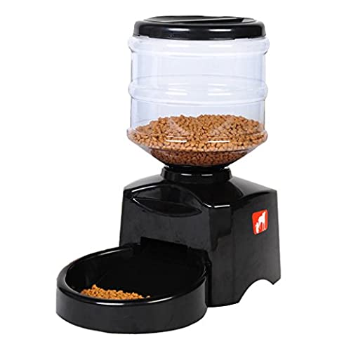 Automatic Feeder, Meiying Large Automatic Cat Feeder Electric Pet Dry Food Container with LCD Display for Dogs Cats