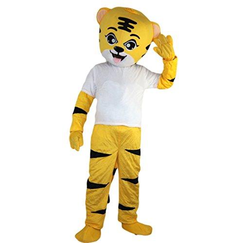 (Langteng gelb Elefant Cartoon Maskottchen Kostüm Echt Bild 15–20Tage Marke)