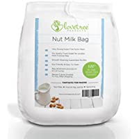 Premium Nut Milk Bag - Including Free Recipe E Book Emailed After Shipping - Large Food Grade Reusable Super Fine Strong Nylon Mesh Bag - Smooth Milks & Juices Every Time ★ With No Risk 100% Money Back Guarantee. Love Tree