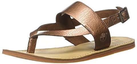 Timberland Carolista Ankle Thongcopper Metallic, Sandales Compensées Femme, Marron (Copper