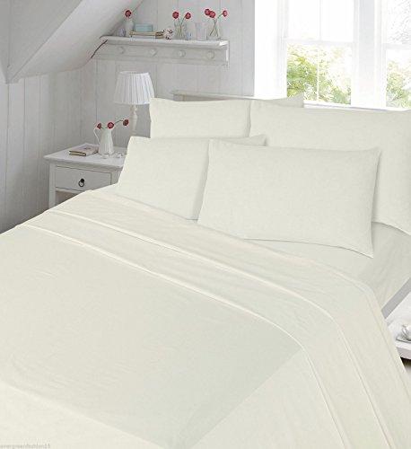 flanellbettlaken Thermo Biber Spannbetttuch 100% Gebürstete Baumwolle Sheepworld, Bettlaken, komplett-Bettlaken-Set mit passenden Kissenbezügen, cremefarben, Laken Einzelbett