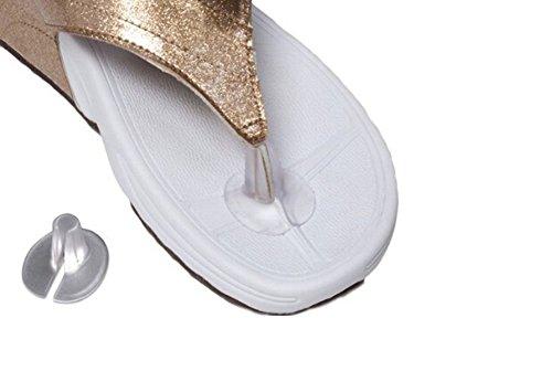 3Paar Silikon String Sandale Zehenschutz Kissen (Flip-flop-kissen)