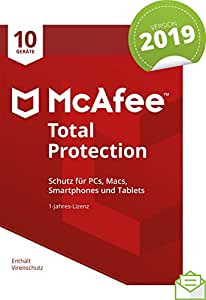 McAfee Total Protection 2019 | 10 Geräte | 1 Jahr | PC/Mac/Smartphone/Tablet | Download