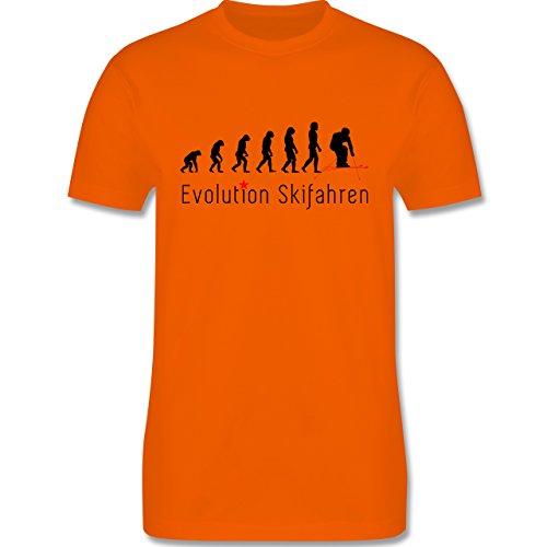 Evolution - Skifahren Evolution - Herren Premium T-Shirt Orange
