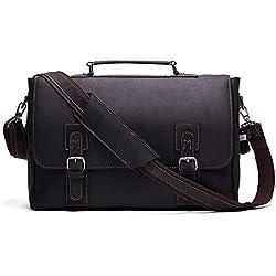 ZQY Sac bandoulière en Cuir for Hommes Porte-Documents Vintage Messenger Bag 16 « ou 17 » épaule Ordinateur Portable Sac for Voyage (Color : A)