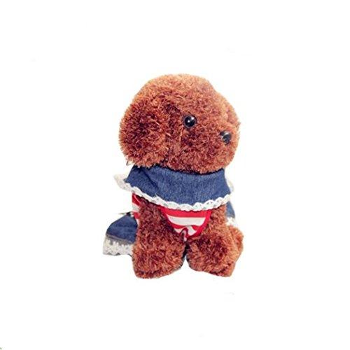 Bingopet Haustier Hund Teddy VIP Kleidung nette Kostüme (rot + blau + weiß) , (Vip Kostüme)