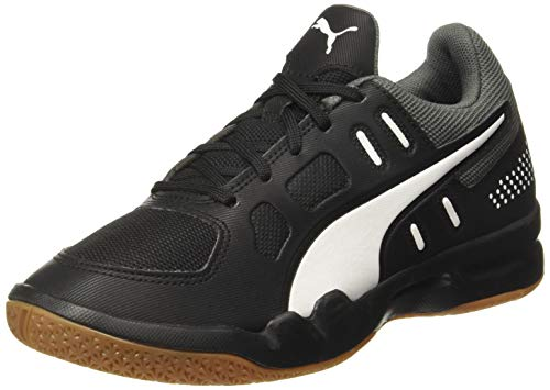 Puma Auriz Jr, Unisex-Kinder Futsalschuhe, Schwarz (Puma Black-Puma White-CASTLEROCK-Gum), 38 EU (5 UK)