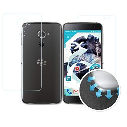 atFolix Schutzfolie passend für BlackBerry DTEK60 Folie, ultraklare und Flexible FX Displayschutzfolie (3er Set)