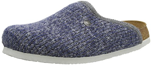 Birki's Amsterdam Unisex-Erwachsene Clogs Blau (Wool Knit Blue)