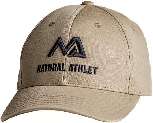 Natural Athlet Herren Basecap - Sport Snapback Cap in beige - Männer Freizeit Kappe verstellbar für Fitness, Sport, Gym & Training