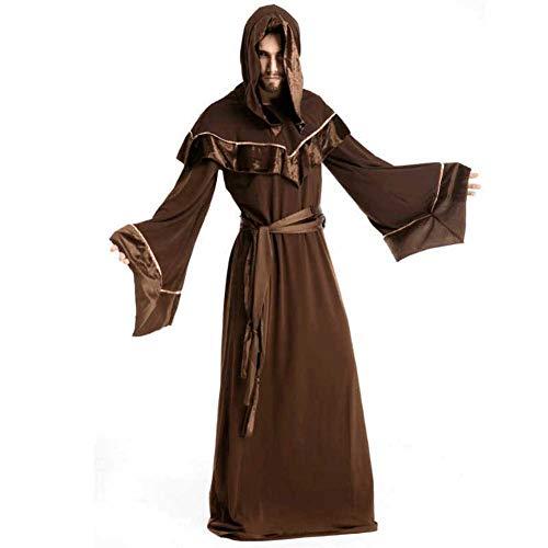 GLXQIJ Halloween Kostüm Herren Mittelalter Kapuze Mönch
