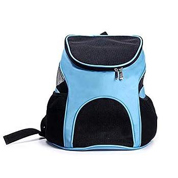 GLMAMK Sac à bandoulière Double, Hors du Sac de Transport Portable pour Chien, Maison à la Conception Confortable Grands et Petits Chats (Couleur : Bleu)
