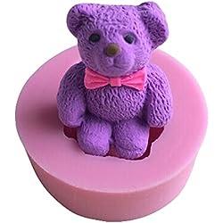 Karen Baking Lindo y hermoso de la forma del oso del silicón 3D molde de pastel para la torta pasta de azúcar que adorna