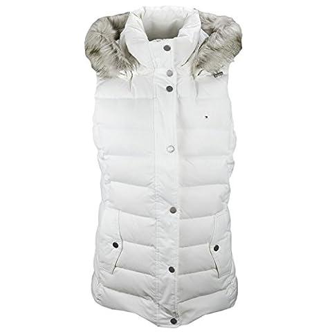 Tommy Hilfiger Damen Daunenjacke Mantel Gr. XL, weiß