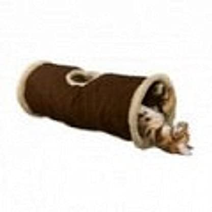 Cat tunnel instant pop up feather toy hide and seek play soft folds away colour may vary 1