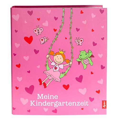 Goldbuch Kindergartensammelordner, Pinky Queeny, A4, Mit 4 illustrierten Trennblättern, 5,5 cm Rückenbreite, Kunstdruck laminiert mit UV-Lack, Rosa, 35447