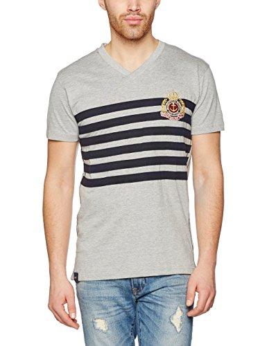 Geographical Norway Herren T-Shirt Jamoda Men Grau (Blended Grey/Navy)