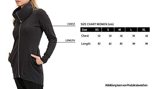 trueprodigy Casual Damen Marken Übergangsjacke einfarbig Basic, Damenjacke cool und stylisch mit Kapuze (Langarm & Slim Fit), Jacke für Frauen in Farbe: Schwarz 2573517-2999 Black